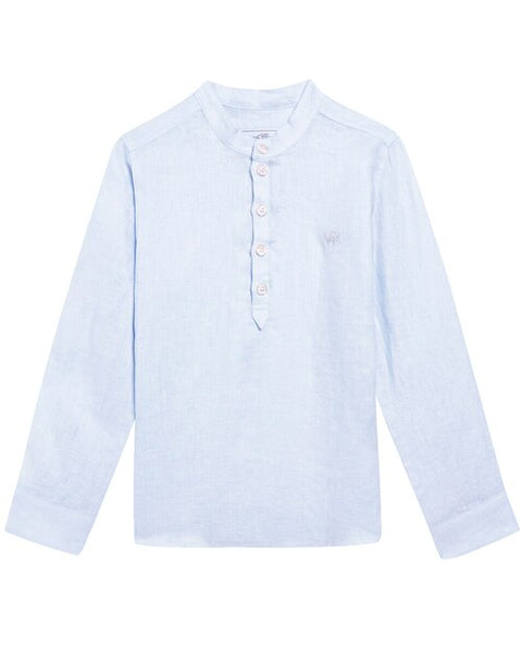 Tartine et Chocolat KIDS Boys' Blue Linen Shirt 3 Years old children