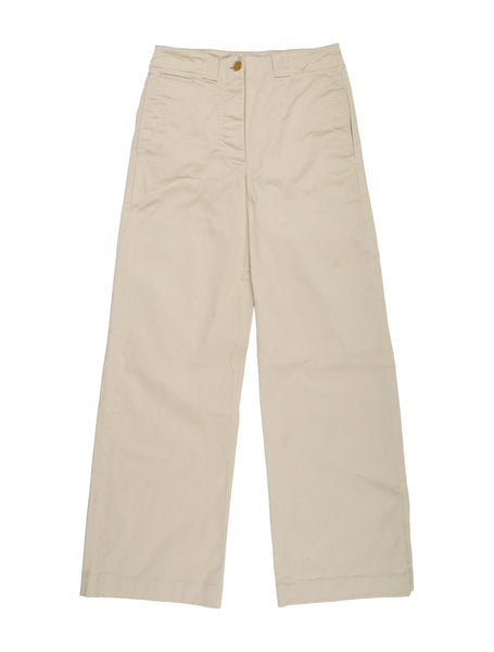 Burberry Prorsum Beige Wide Leg Pants Trousers Ladies