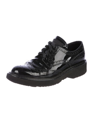 PRADA Brogue Patent Leather Oxfords Shoes 38 UK 5 US 8 ladies