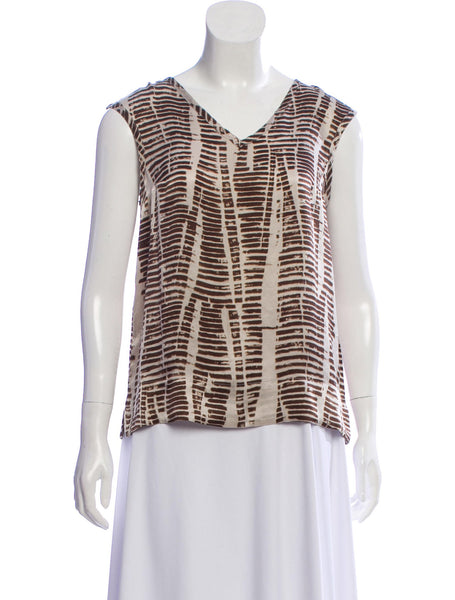Max Mara MaxMara printed silk sleeveless top blouse Ladies
