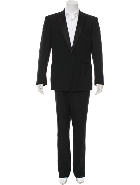RALPH LAUREN BLACK LABEL WOOL TWO-PIECE TUXEDO SUIT SIZE 44R 37 XXL (TROUSERS) MEN