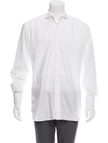 "DIOR TUXEDO SHIRT LONG SLEEVE BUTTON-UP FRENCH CUFF 44 17 1/2"" Men"