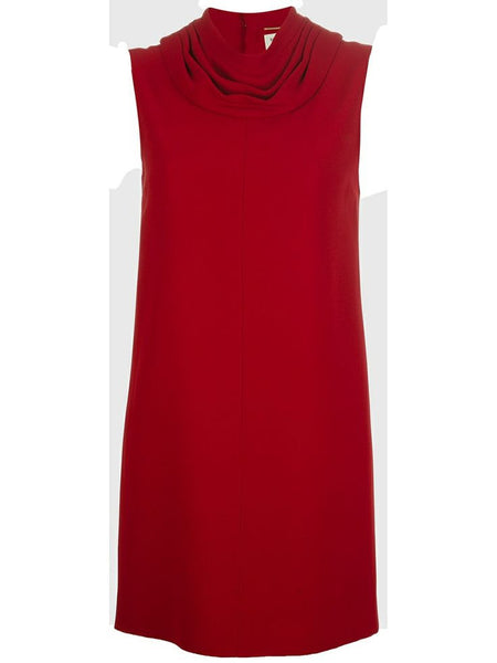 Saint Laurent Red Cowl Neck Sleeveless Dress SOLD OUT F 40 UK 10 US 6 LADIES