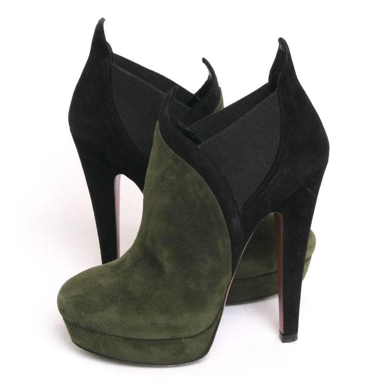 SUEDE ROUND-TOE Boots Shoes Ladies