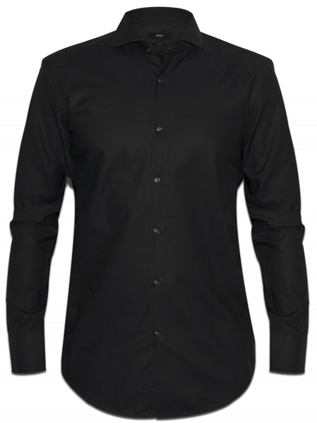 "HUGO BOSS BLACK SLIM FIT LONG SLEEVE BUTTON-UP SHIRT SIZE 39 15 1/2"" Men"