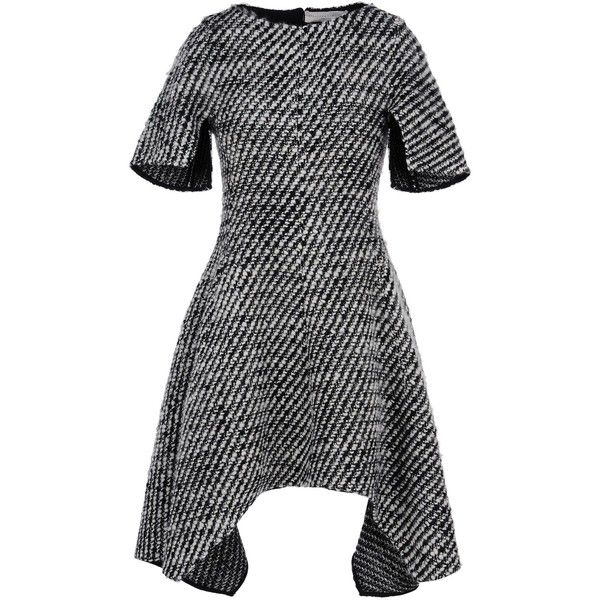Stella McCartney Ayana asymmetric wool-blend tweed mini dress LADIES