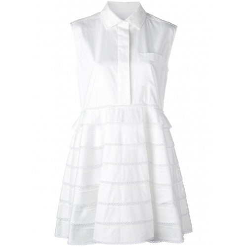 Carven Ruffled Shirt Dress Day Dress Ladies