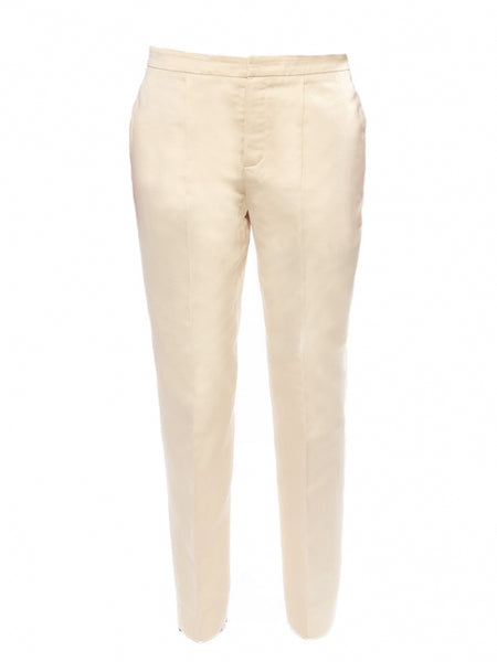 L.K. Bennett London Champagne Straight Leg Trousers Pants LADIES