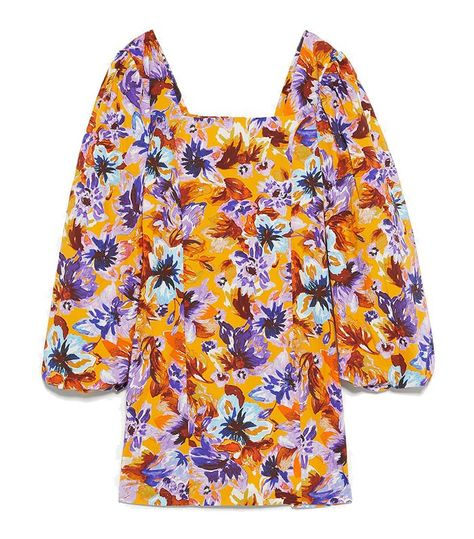 Zara floral puff sleeve dress SOLD OUT Size M medium ladies