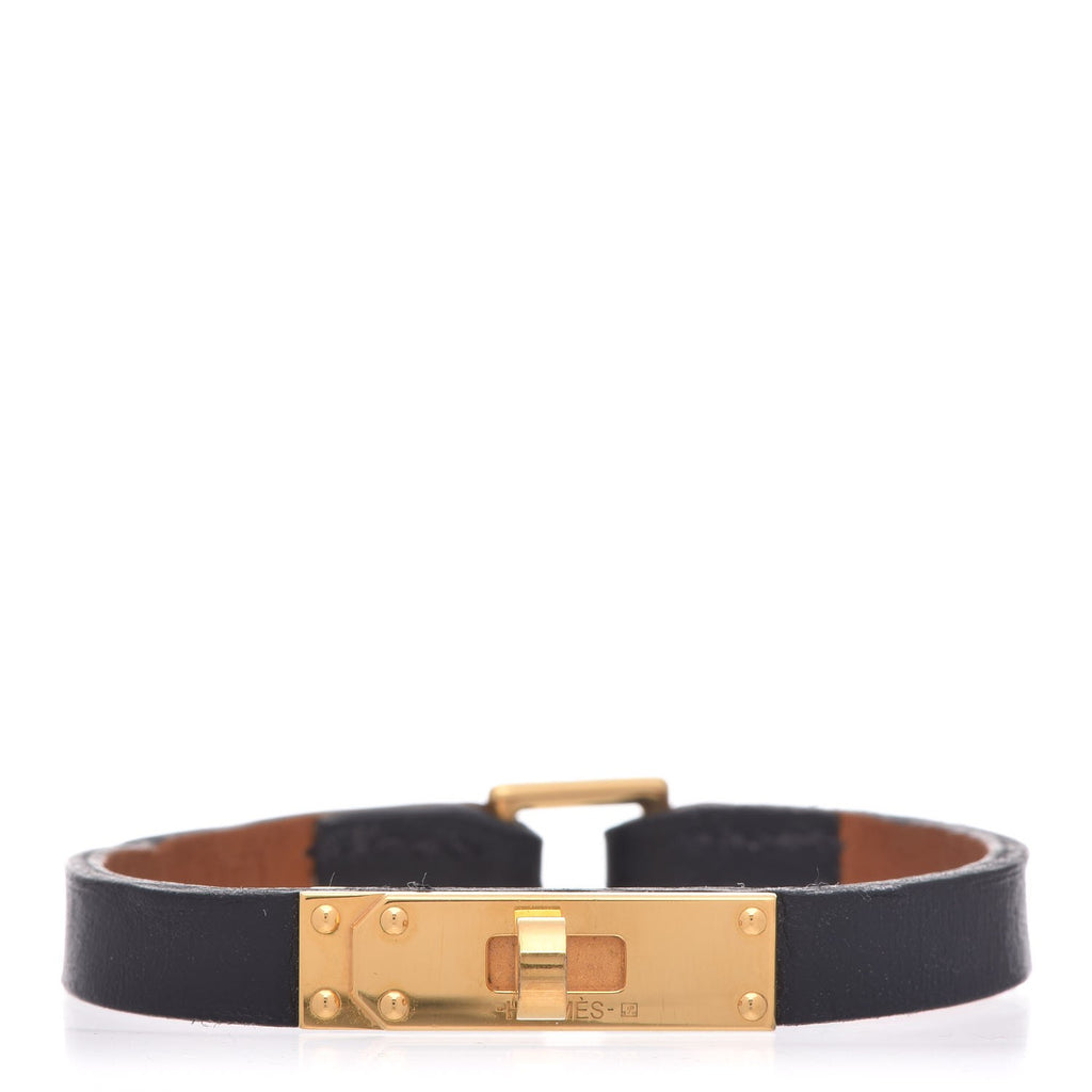 Hermès Micro Kelly bracelet featuring 18K rose gold-plated leather 2016 Ladies