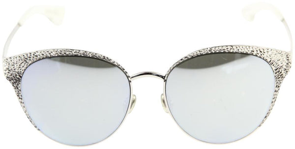 CHRISTIAN DIOR UNIQUE Palladium Cat Eye Metal Limited Edition Mirror Sunglasses ladies