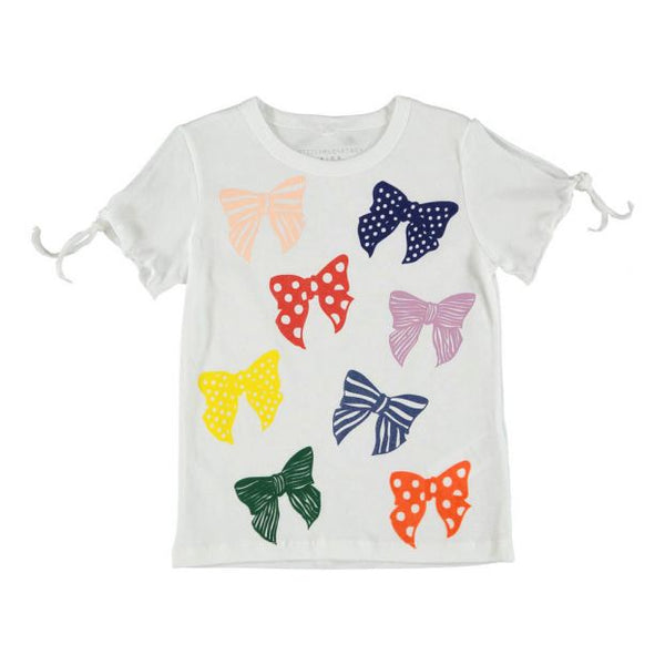 Stella McCartney KIDS Girls' Dorine Bow Organic Cotton T-Shirt