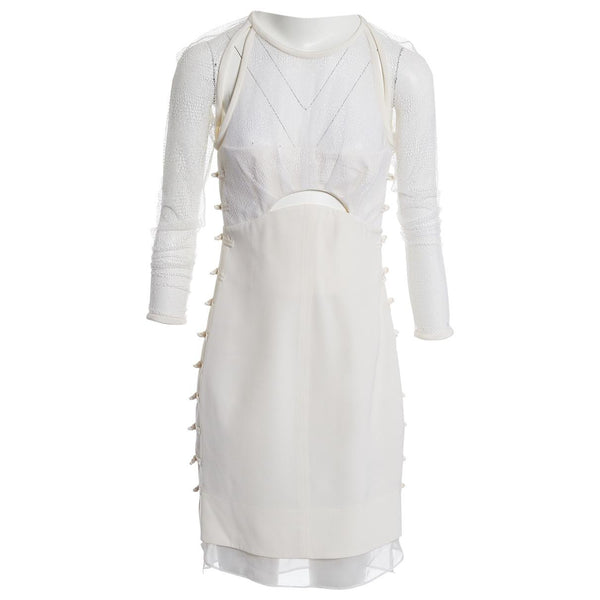 Emilio Pucci MOST WANTED White Silk Blend Lace Dress Ladies