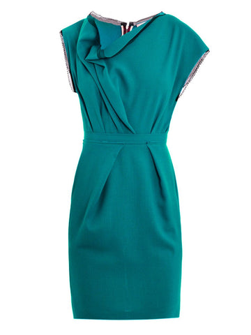 Roksanda Ilincic 'Peridot' wool dress in a stunning teal green Ladies