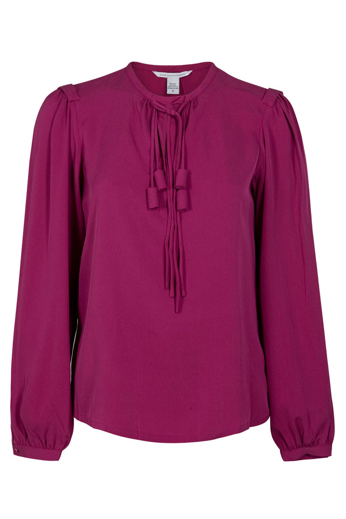 DIANE VON FURSTENBERG Florane Silk Top Blouse Tunic Size US 6 UK 10 Ladies