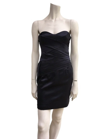 Roberto Cavalli Runaway Silk Strapless Mini Dress Size I 38 UK 6 US 2 XS ladies