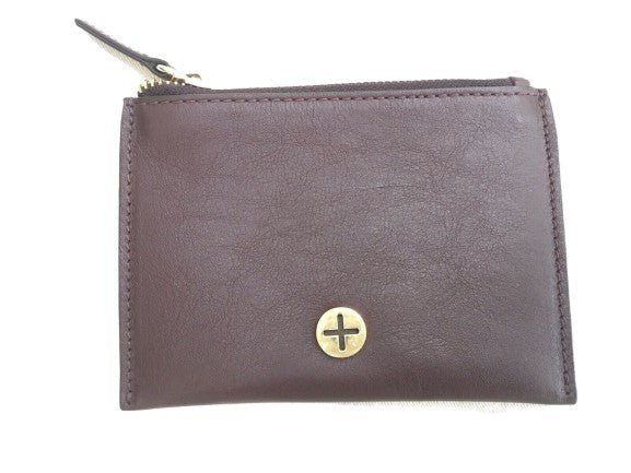 Plum zip coin purse wallet ladies