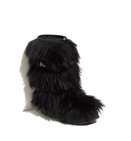 PRADA Faux Fur Tall Boot Size 36.5 UK 3.5 US 6.5 ladies