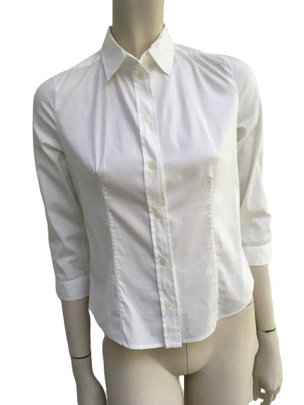 Prada Slim Fit White Shirt Blouse I 38 UK 6 US 2 XS ladies