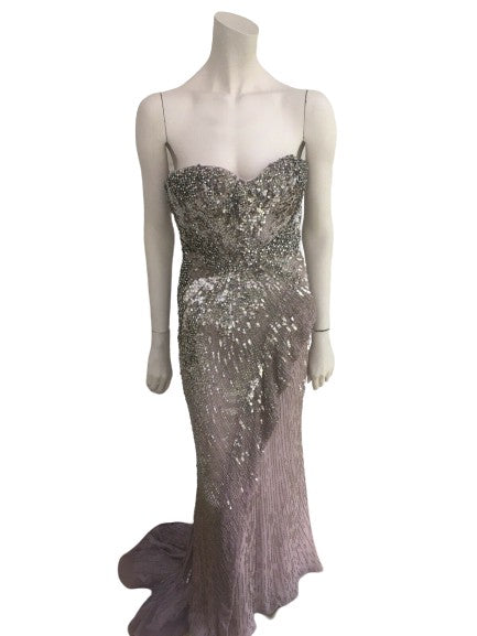 Roberto Cavalli Runaway Embellished Corset Dress Gown RED CARPET I 40