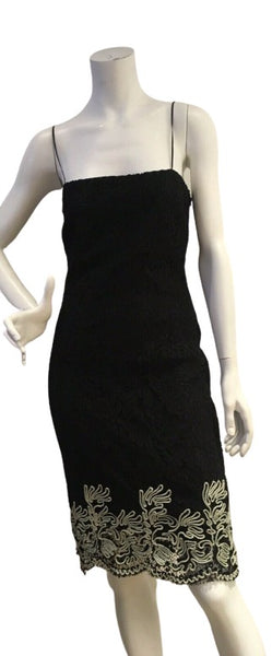 A. BRAND BRASIL NBLACK LACE DRESS SIZE 38 UK 10 US 6 ladies