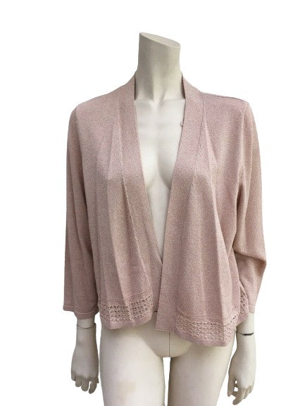 Marks & Spencer Lurex Pink Cardigan Size UK 20 EU 48 ladies