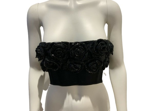 Jasmine di Milo Silk Roses Embellished Corset Top Size 34B XS / S RED CARPET ladies