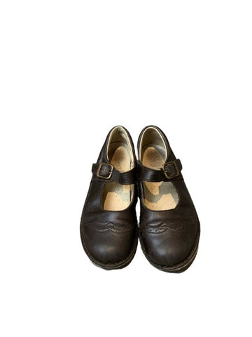 T Bar Brown Leather Shoes Size 31 children