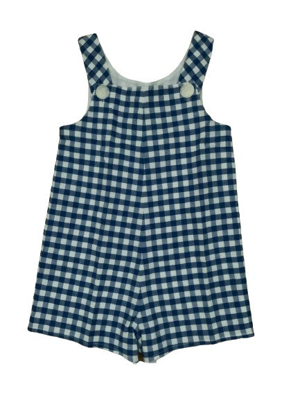 AMAIA Gingham Blue Shorts Overall Pants Romper 3 years Boys Children