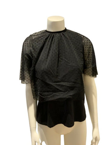 "Amazing NK ""Behind the Stars"" lace trim top T shirt size P XS ladies"