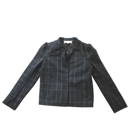 Vanessa Bruno Athé Wool Blend Checked Short COAT JACKET Ladies