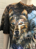 BALMAIN Ladies Wolf print distressed oversized Ladies