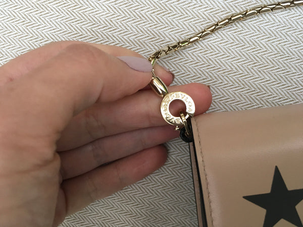BVLGARI Bulgari Serpenti Forever Star Studs leather bag wallet on chain clutch LADIES