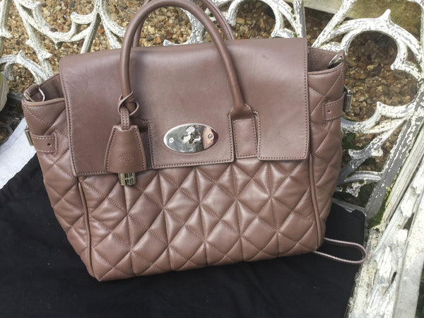 MULBERRY Mini Cara Delevingne Bag Delevingne Taupe Quilted Lamb Nappa 100%  Authentic  LADIES