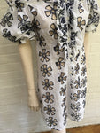 JEFF GALLANO EMBROIDERED COVER UP Kaftan Tunic Dress Size 3 M MEDIUM Ladies