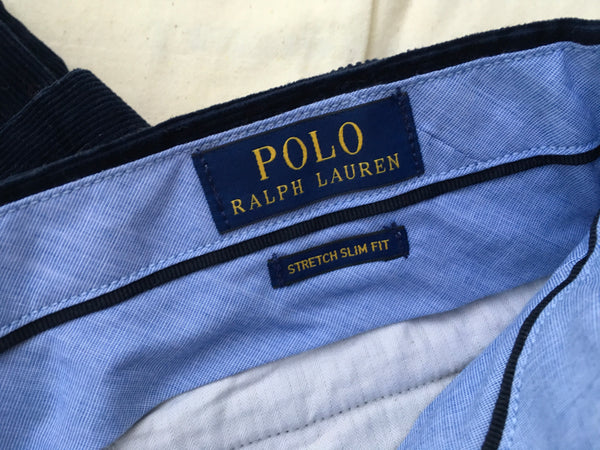 Ralph Lauren Polo Men's Navy Stretch Slim Fit Corduroy Pants Trousers men