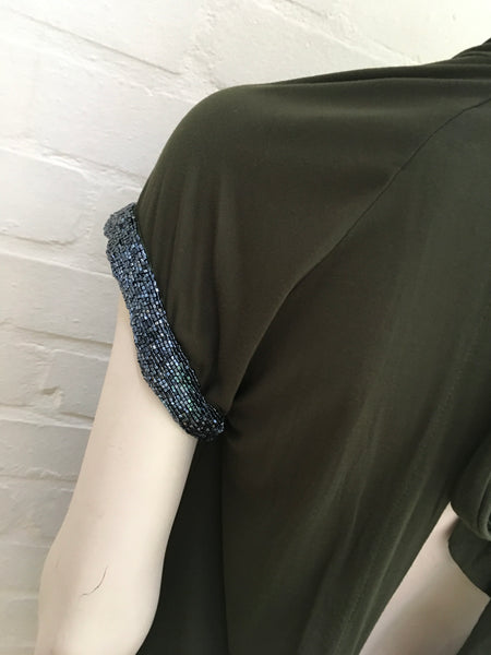 PINKO Backless Khaki Amazing Top Ladies