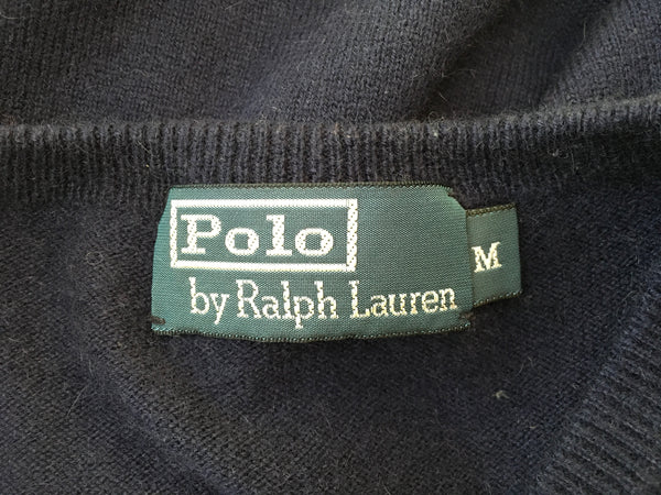 Ralph Lauren Polo Navy Dark CASHMERE KNIT SWEATER JUMPER M MEDIUM Men