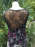 HARRODS BELLVILLE SASSOON LORCAN MULLANY HAND MADE SILK LACE GOWN UK 14 LADIES