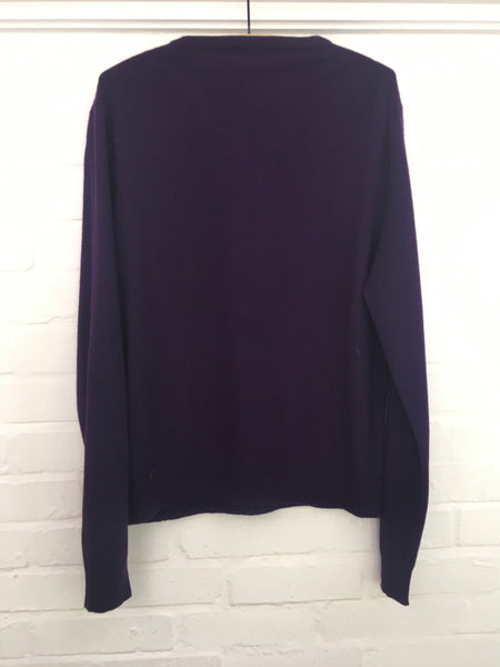 Purple CASHMERE KNIT SWEATER JUMPER M MEDIUM Men