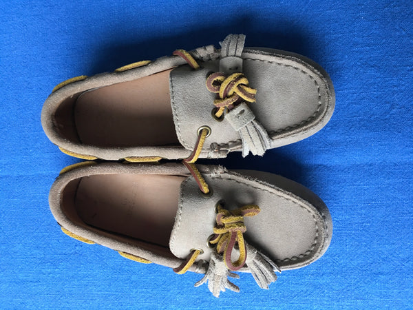 Ralph Lauren Suede Shoes Loafers Moccasins Size 26.5 UK 10 US 9 1/2 Children