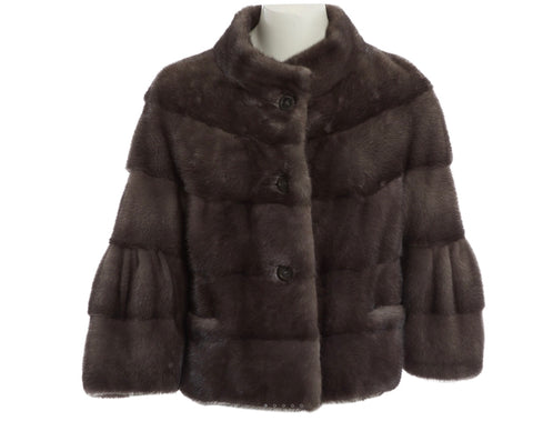 Hockley Scandinavian Sapphire Mink SAGA FUR Jacket Coat Size S Small Ladies