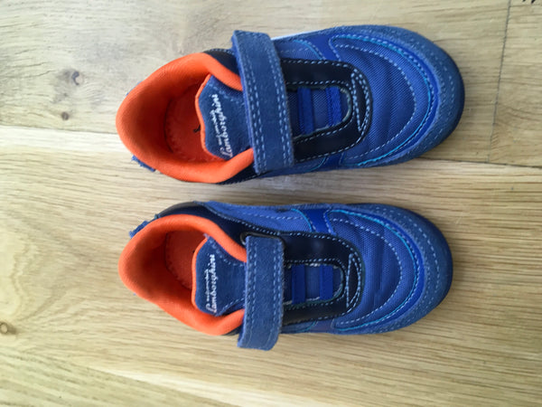 AUTOMOBILI LAMBORGHINI RACE ONE BOYS TRAINERS IN ROYAL BLUE EU 22 UK 5 Children