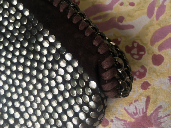 Stella McCartney Falabella studded faux suede bag handbag Ladies