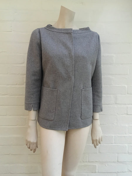 Burberry Prorsum Grey Pure Cashmere Jacket Blazer Coat I 38 US 4 UK 8 Ladies