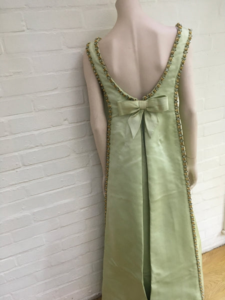 Vintage Rare Jacques Heim 1960's haute couture beaded gown dress  Ladies