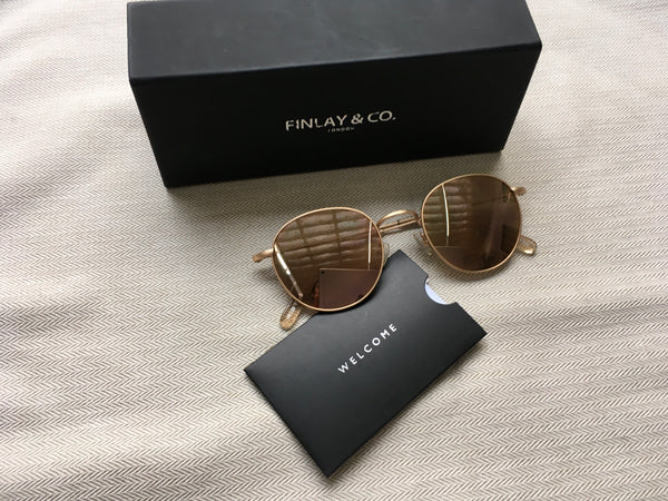 Finlay & Co. OSWALD Mirrored Gold Rose Unisex Amazing Sunglasses Men