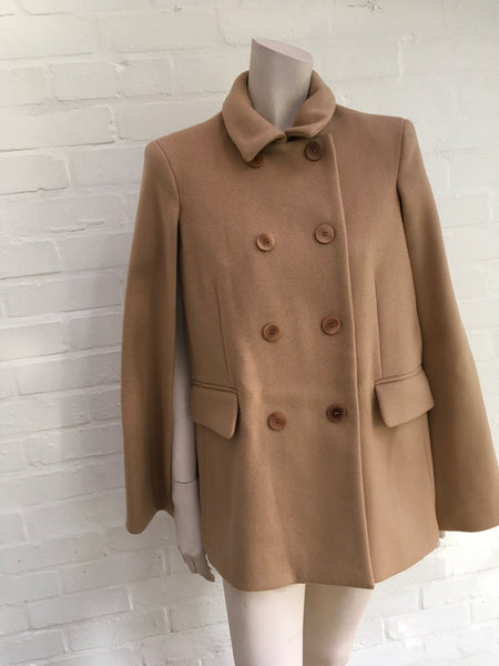 Maje Double-breasted wool and cashmere-blend felt cape coat Size F 38 UK 10 US 6 Ladies