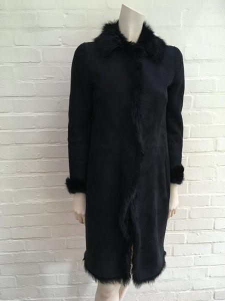 Joseph Anais coat shearling lambskin sheepskin F 36 UK 8 US 4 S SMALL Ladies