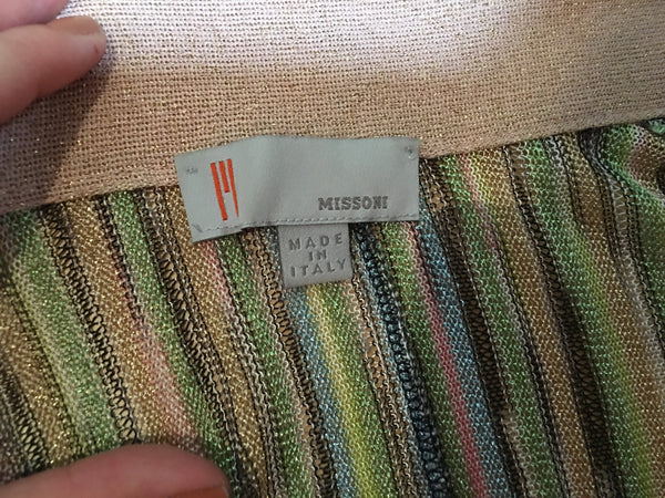 Missoni KNIT GOLD INSERT LONGLINE CARDIGAN S SMALL LADIES